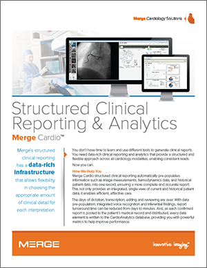 Merge Cardio Clinical Reporting datasheet