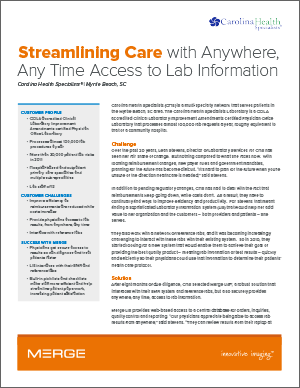 Streamlining Care with Anywhere, Any Time Access to Lab Information Case Study