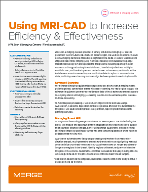 Merge CADstream with MRI Scan & Imaging Centers Case Study